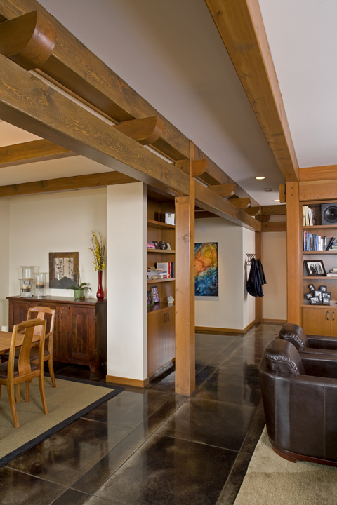 Large Modern Bellingham Home - Post and Beam Interior