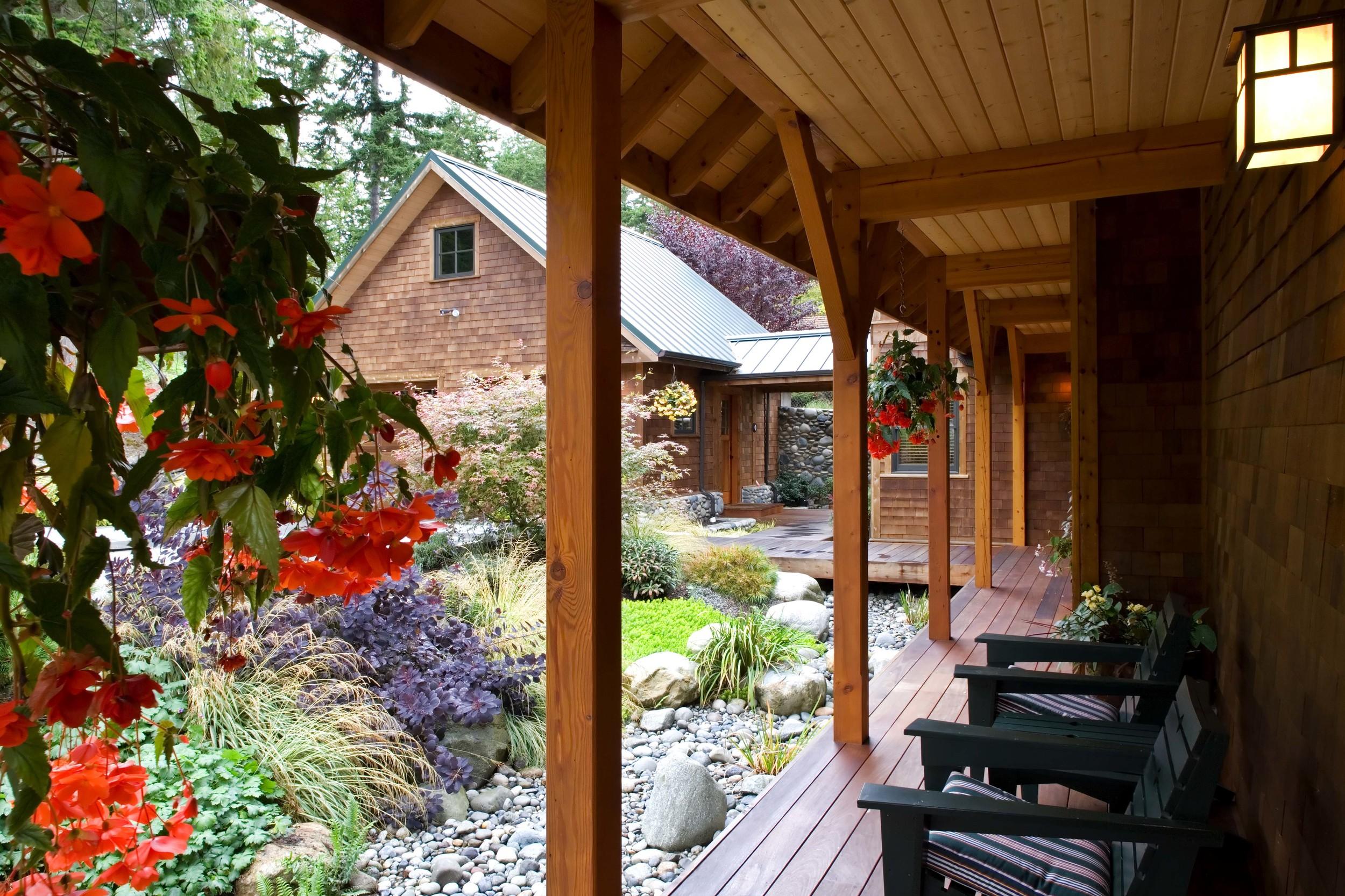 Port Ludlow, Washington - Timber Frame Home - Breezeway View