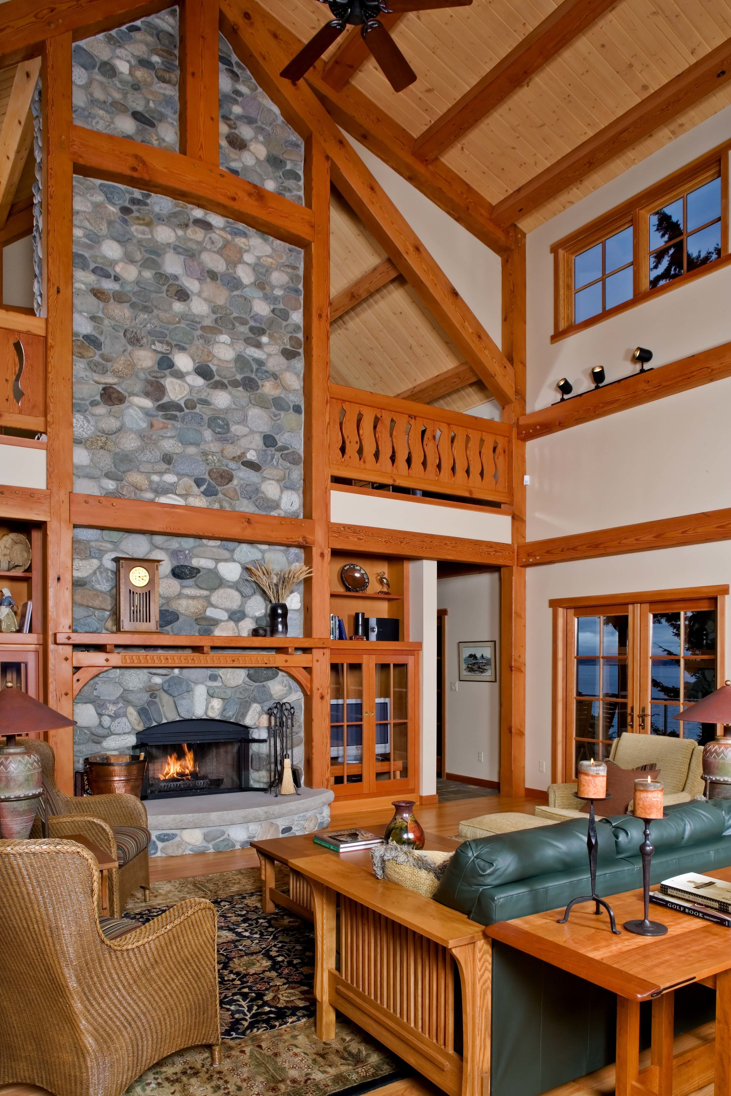 Port Ludlow Timber Frame Home - Living Room