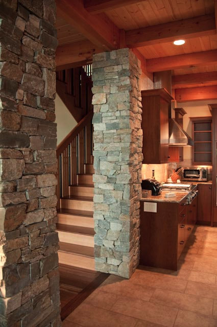 Anacortes Timber Frame Home - Staircase & Interior