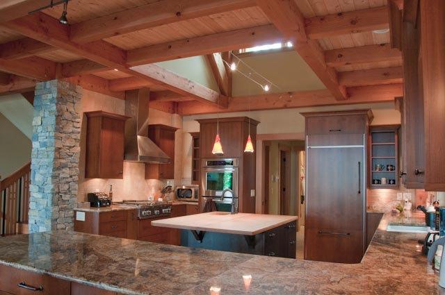 Anacortes Timber Frame Home - Post Frame Interior