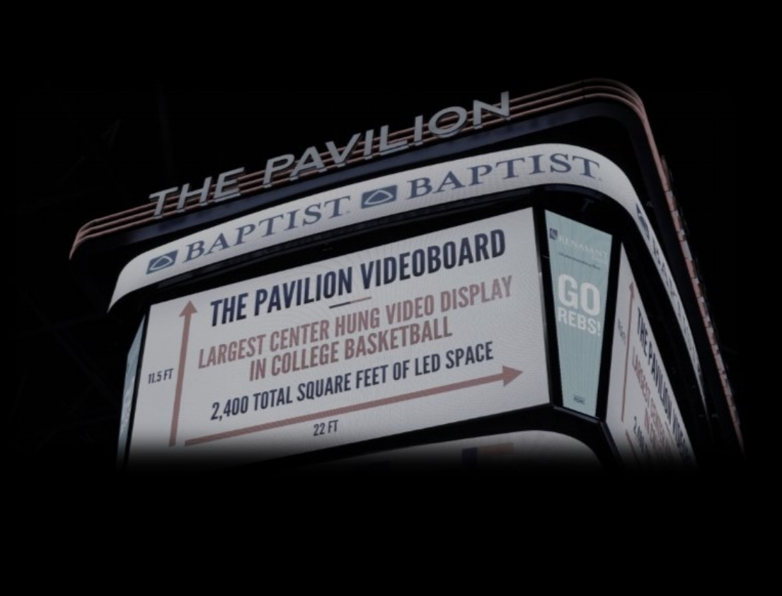 """Ole Miss """"The Pavilion"""" Center Hung Video Display"""