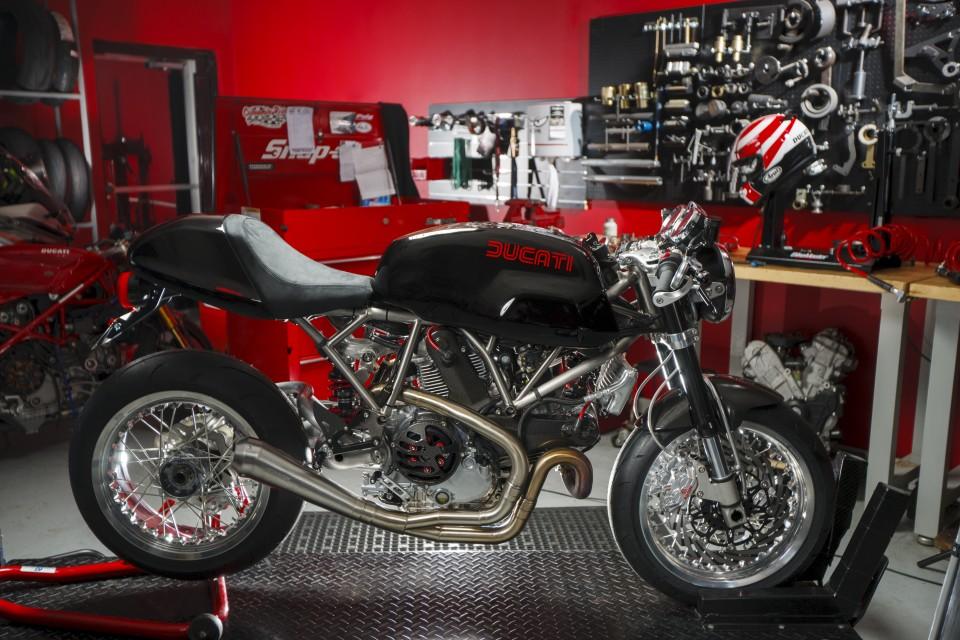 Custom built Ducati Sport Classic with StradaFab Titanium frame.