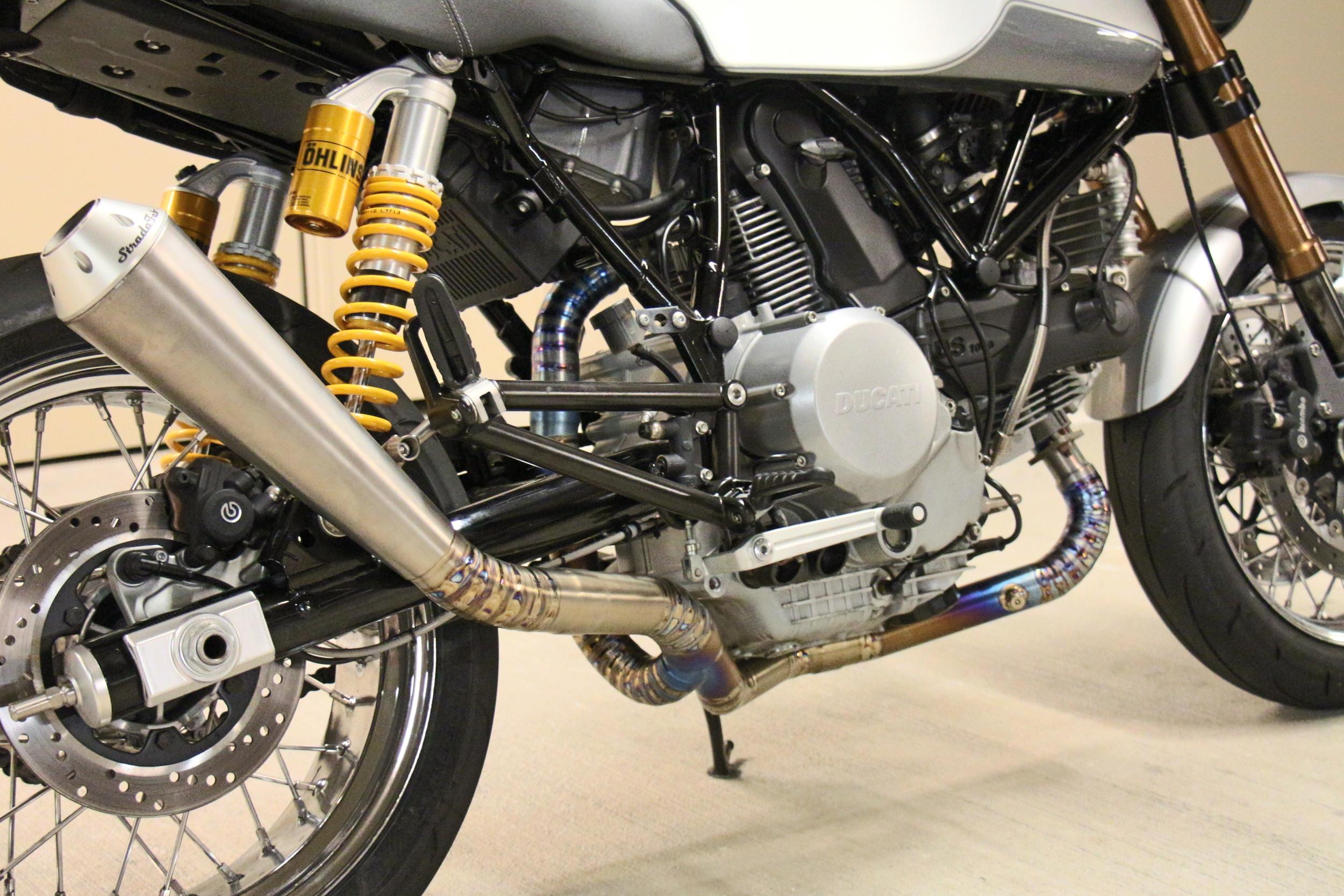 Ducati GT1000 with StradaFab Titanium exhaust