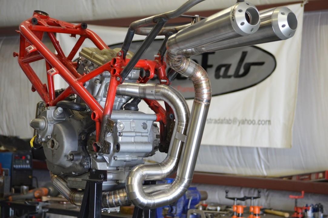 Custom 848 exhaust