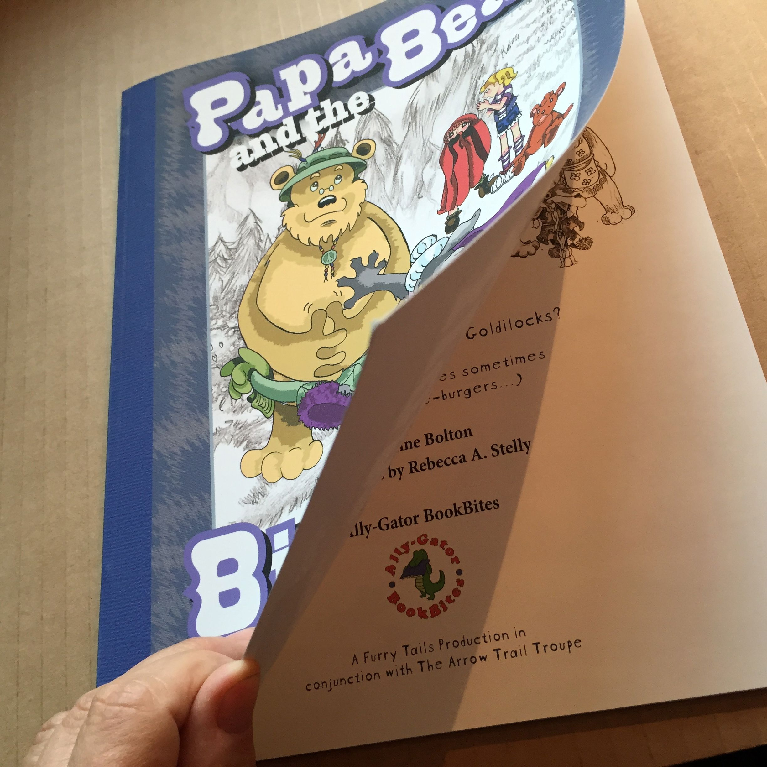 Papa Bear and the Big Bad Wolf  soft cover with sewn binding
