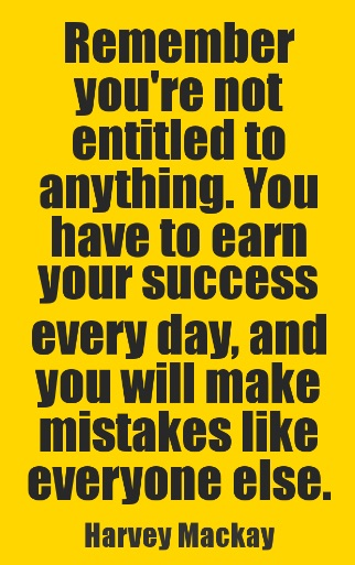 re-earn success every day