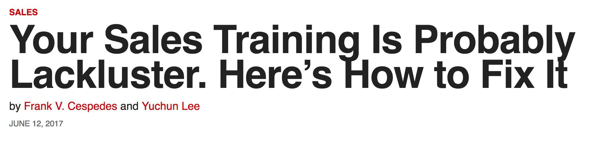 HBR headline