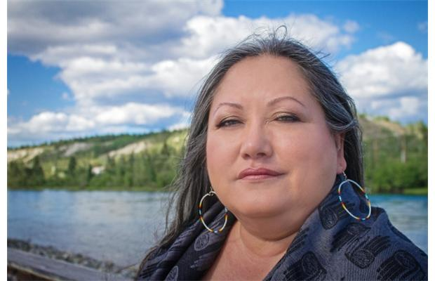 VPL's Aboriginal Storyteller in Residence Sharon Shorty.  (Photo by Mark Rutledge)