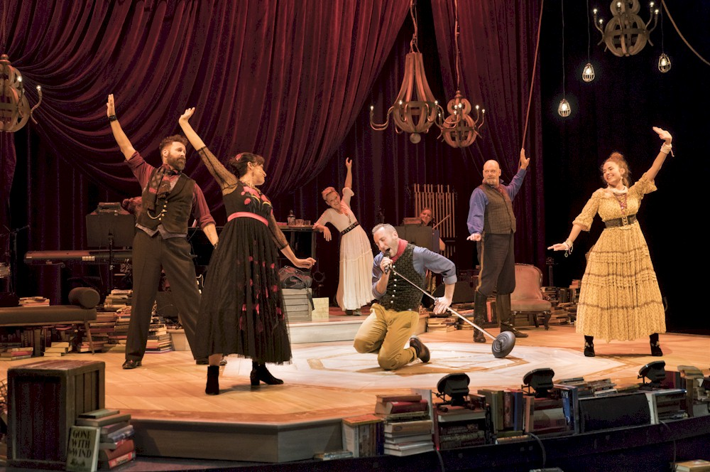 """The cast of  Onegin in the 2017 Arts Club Theatre production. Critic Colin Thomas writes, """"I almost fainted from pleasure the first time I saw it and people I trust have told me it's even better this time around.""""  Image:David Cooper."""