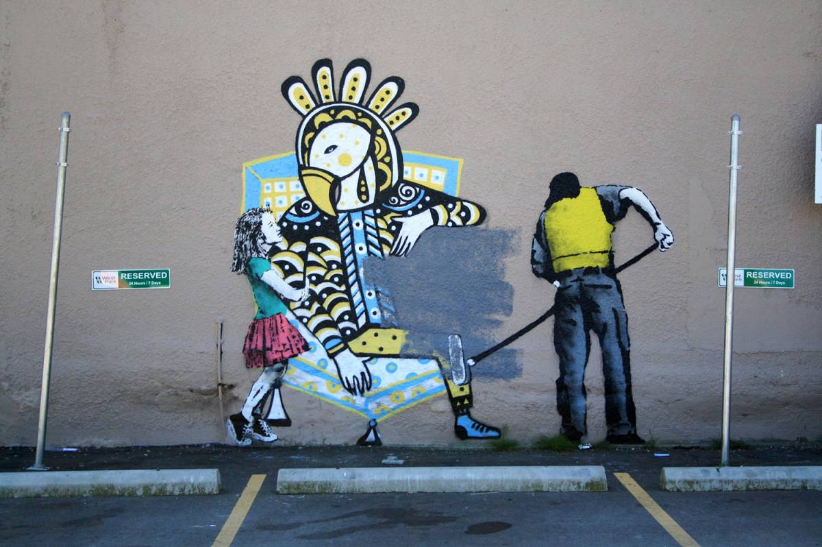 Street art by Vancouver artist iHeart.   image: The Georgia Straight.