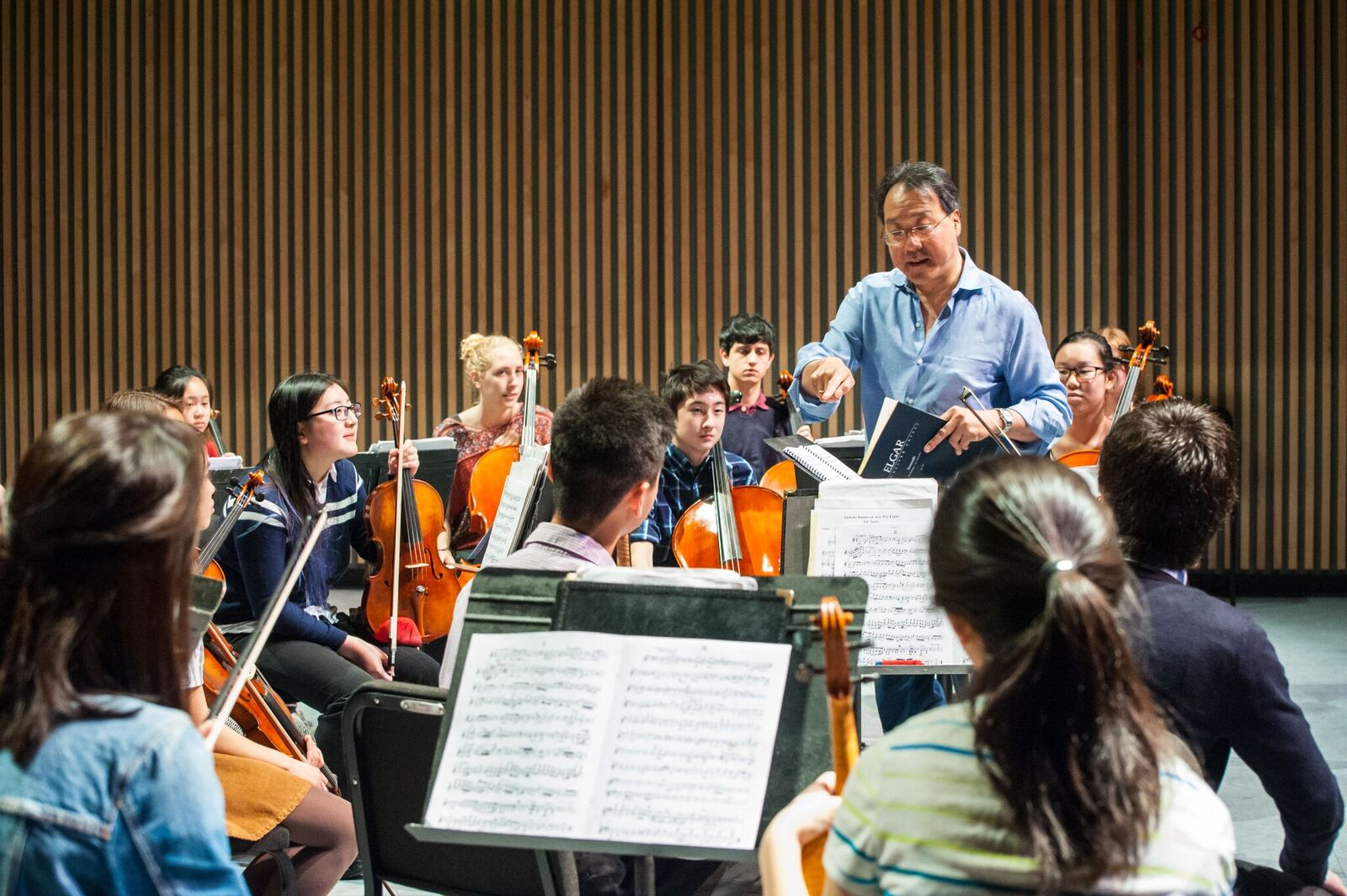 Yo Yo Ma Masterclass with the VSO School of Music. | Aaron Aubrey for the VSO