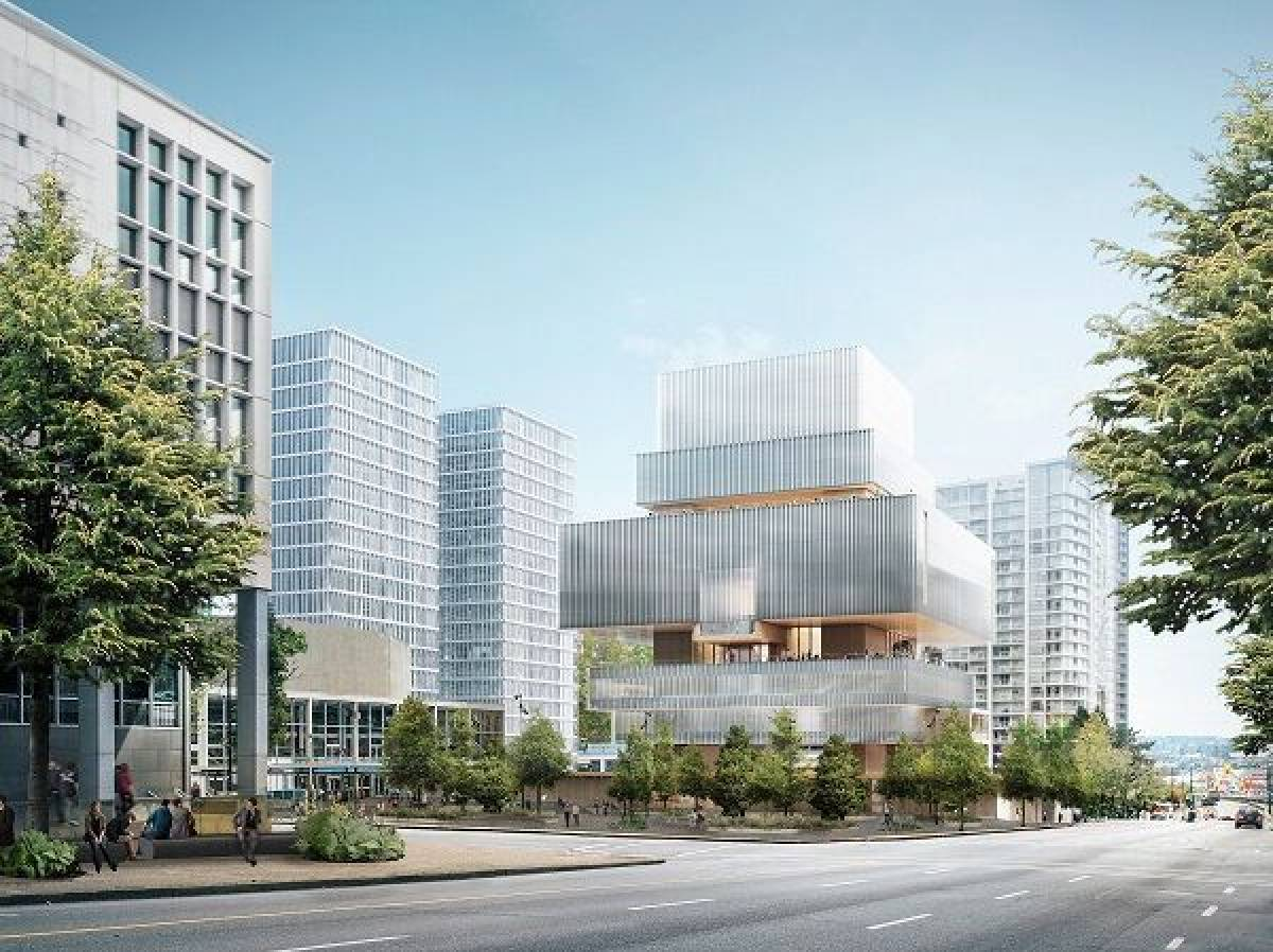 A design illustration of the Vancouver Art Gallery's projected new building, Chan Centre for the Visual Arts.   Image: Vancouver Art Gallery.