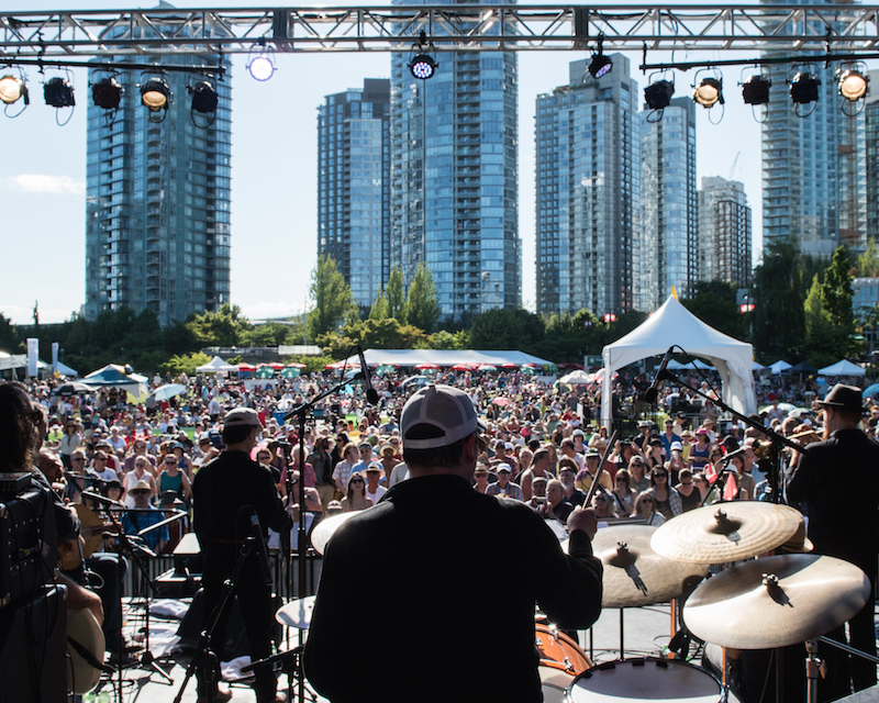 David Lam Park Jazz Weekend.   Image: Coastal Jazz & Blues Society.