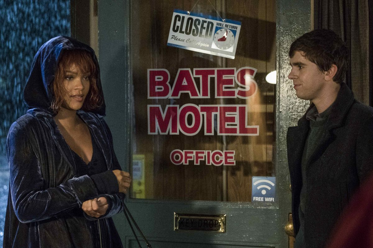 Rihanna and Freddie Highmore star in  Bates Motel , which was filmed in British Columbia. Film and video products were responsible for $1.2 billion worth of BC's culture exports in 2017. | Image: A&E.