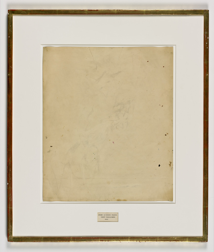 Erased de Kooning Drawing,  1953by Robert Rauschenberg