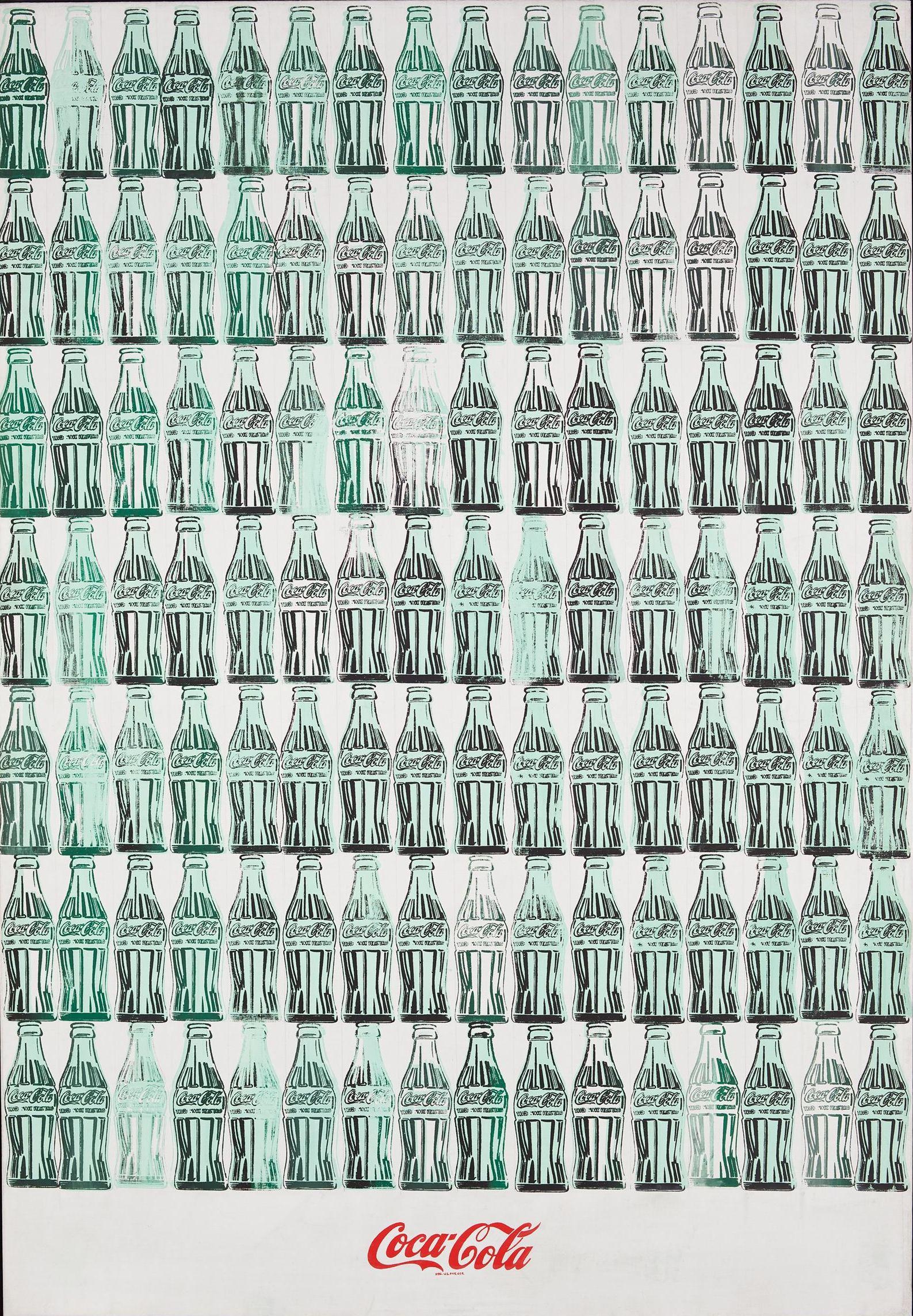 Andy Warhol,  Green Coca-Cola Bottles , 1962