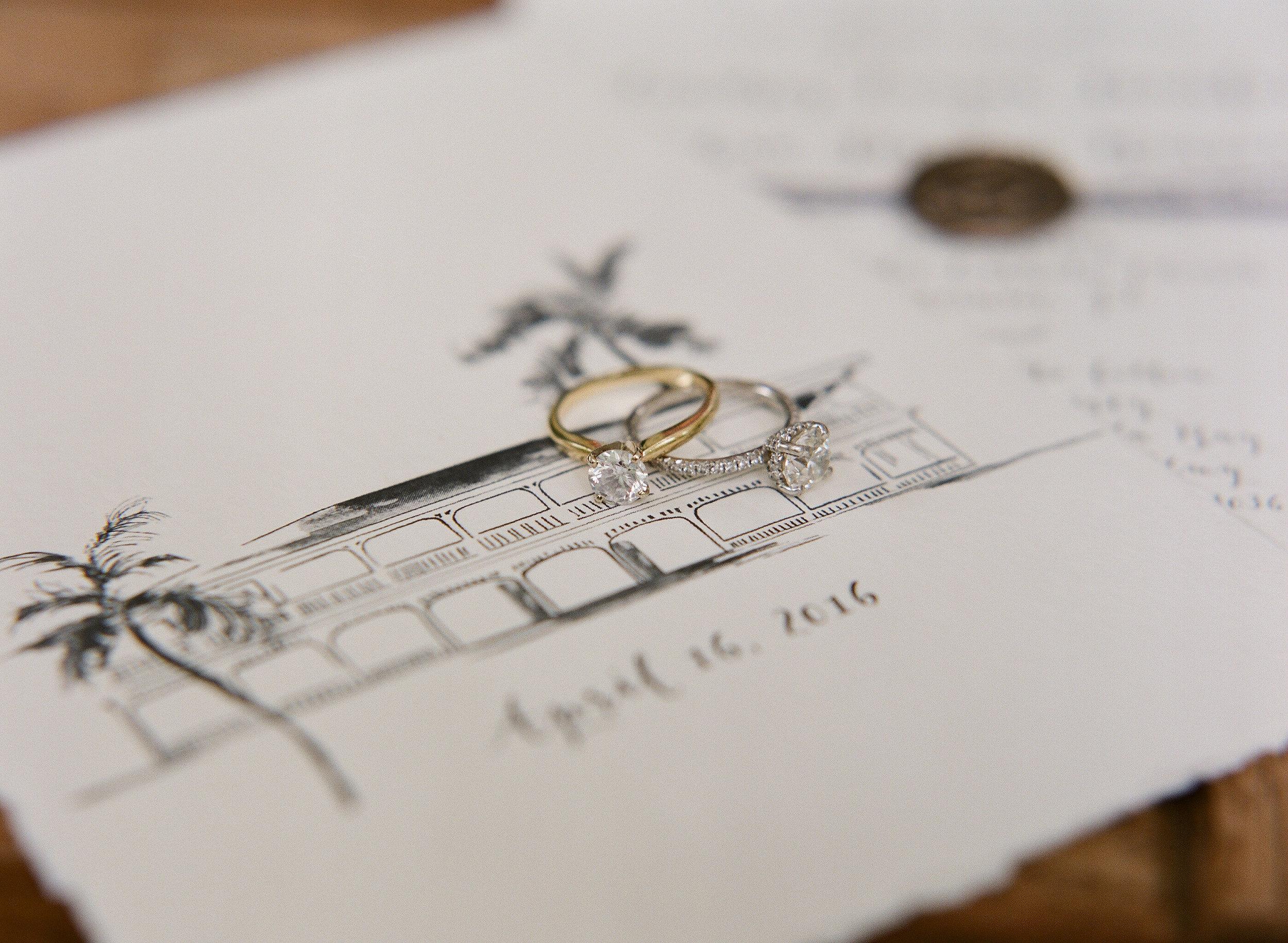 Wedding Invitation_ Florida keys_ Venue Illustration