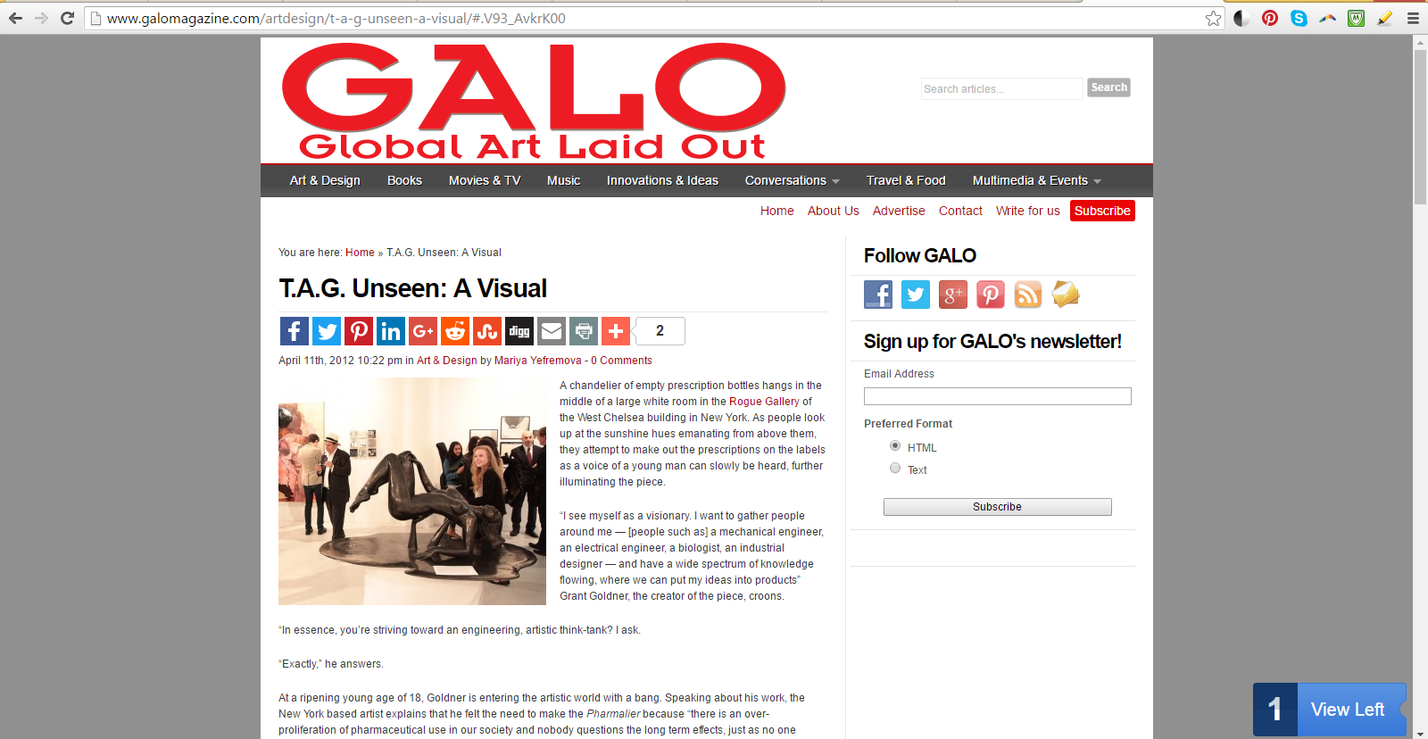 GALO Magazine Covers Rogue Gallery Debut