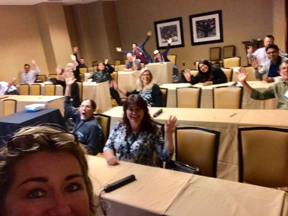 Getting the crowd warmed up at my SPTechCon session on Business Transformation