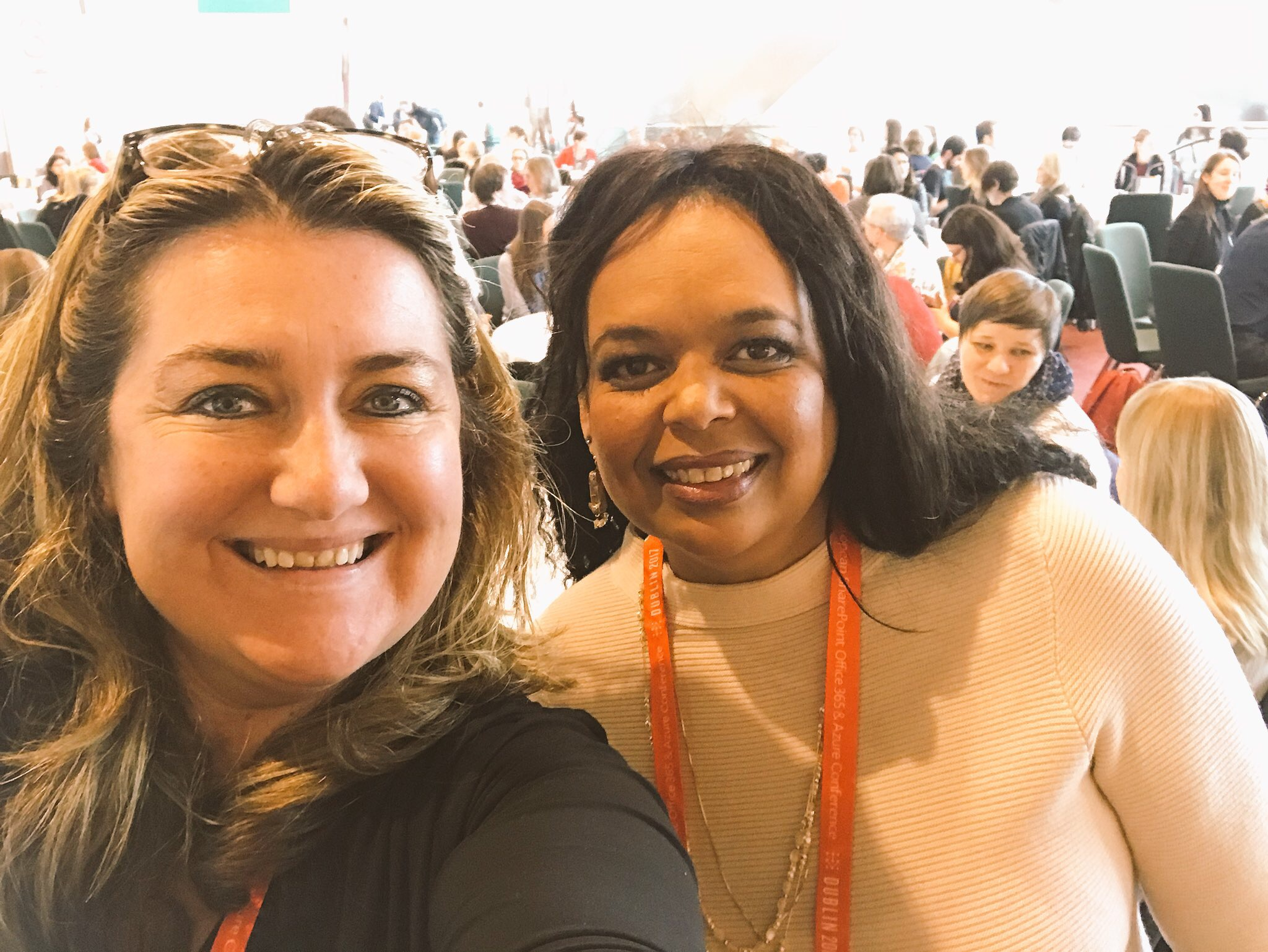 Karuana Gatimu and Heather Newman at the ESPC17 Women in Technology Lunch.