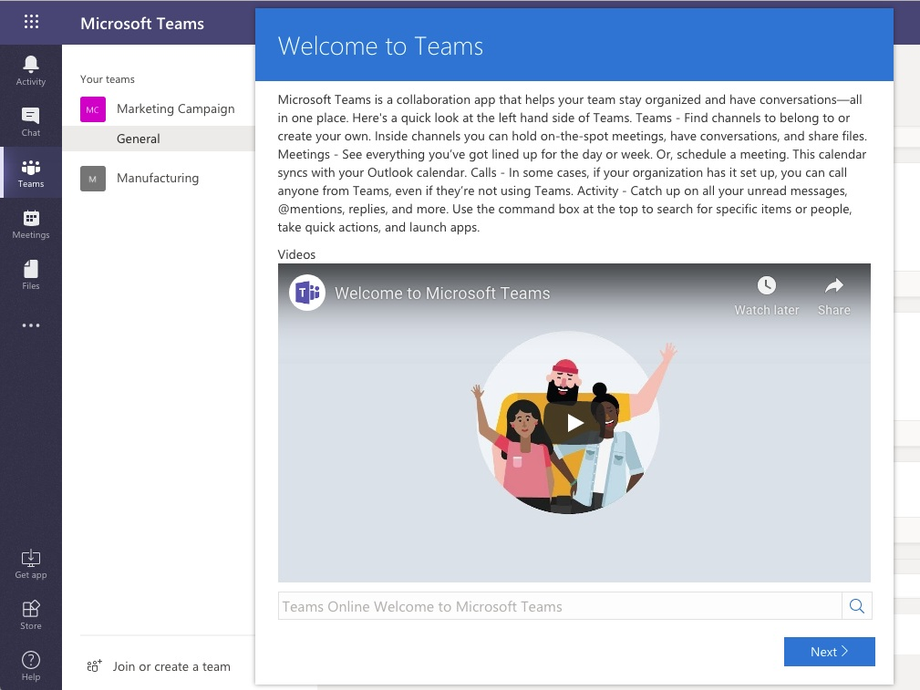 Teams playlist inside of Microsoft Teams with Content Panda