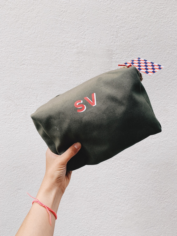 Monogrammable Wash Bag, CHF 59 (+20 for monogramming)