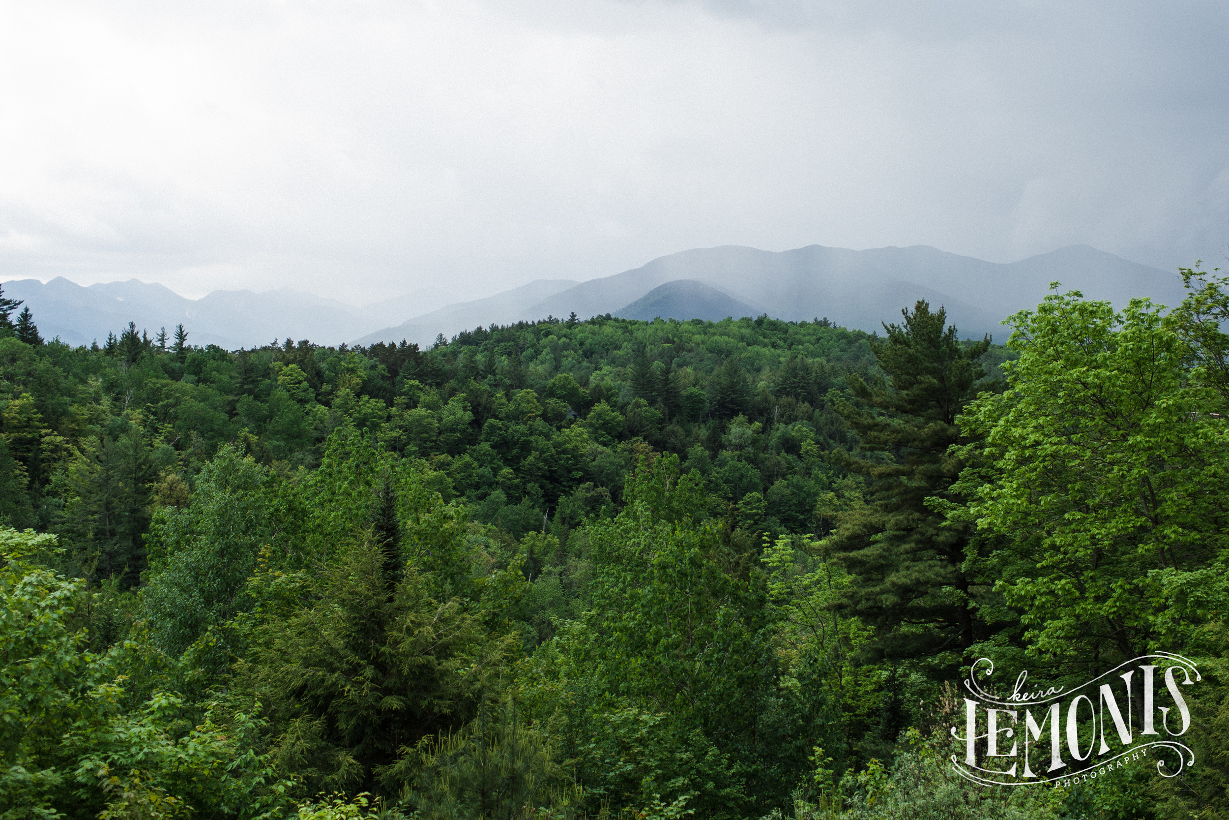 The rain moved in just as we were finishing up portraits... perfect timing! Look at that view!