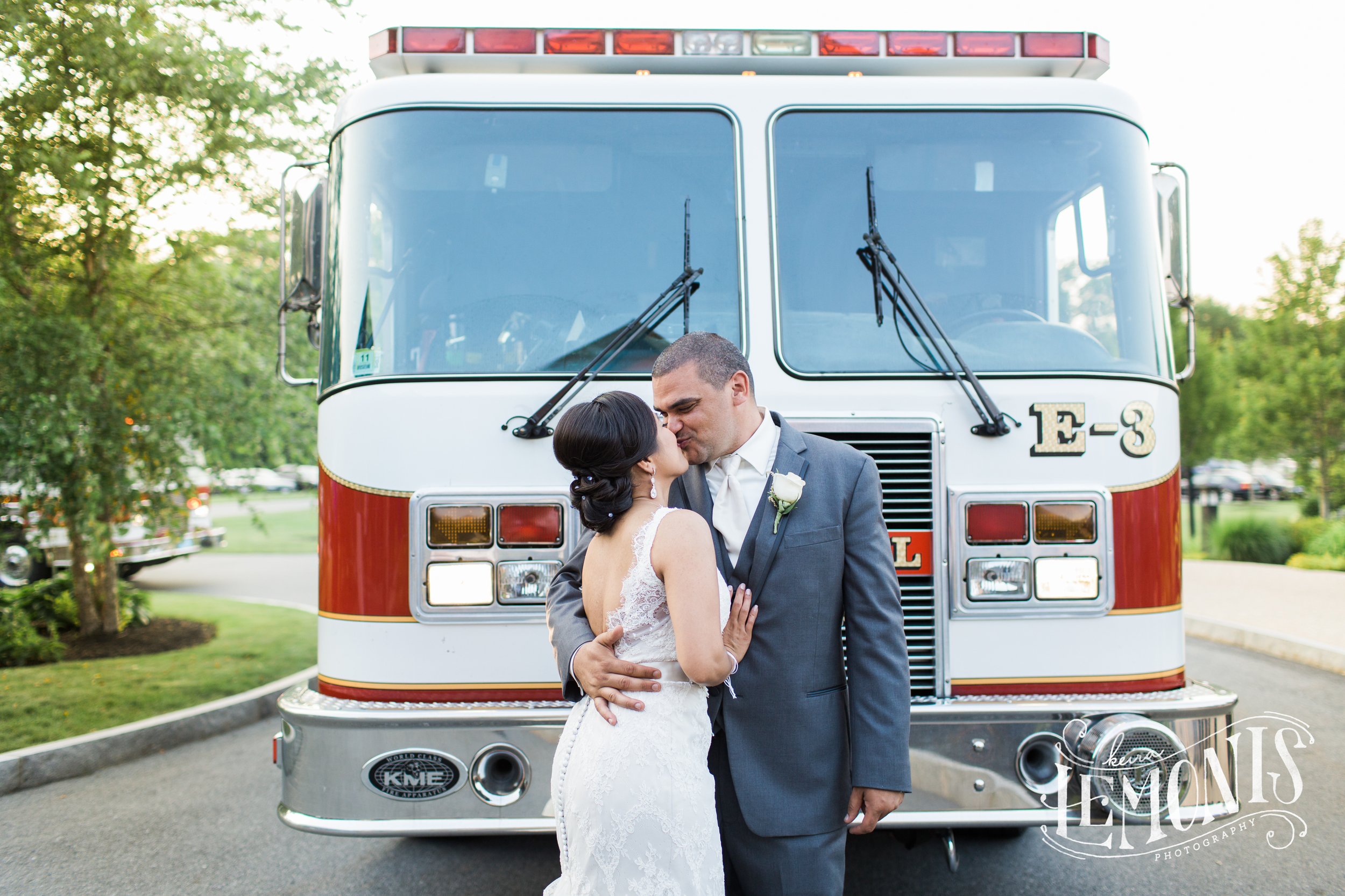 A fire couldn't stop them from enjoying their big day...