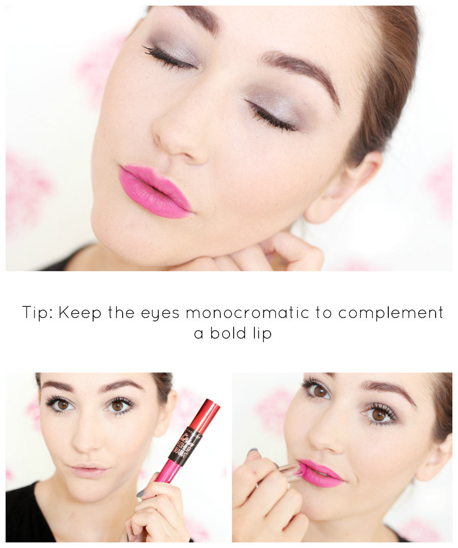Valentine S Day Bold Lip Makeup Look With A City Dream