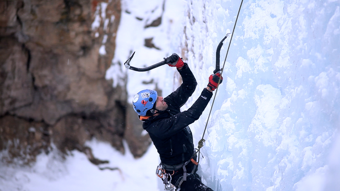 """Why do """"normal"""" people risk their lives to climb on frozen waterfalls each winter? """"Ice"""" examines the emotions and motivations of recreational ice climbers, and shows why one amazing location in Colorado has become the epicenter of the ice climbing world."""