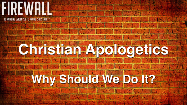 "Session 1:   ""Why Should We Do It?"" 2016 Apologetics Conference"