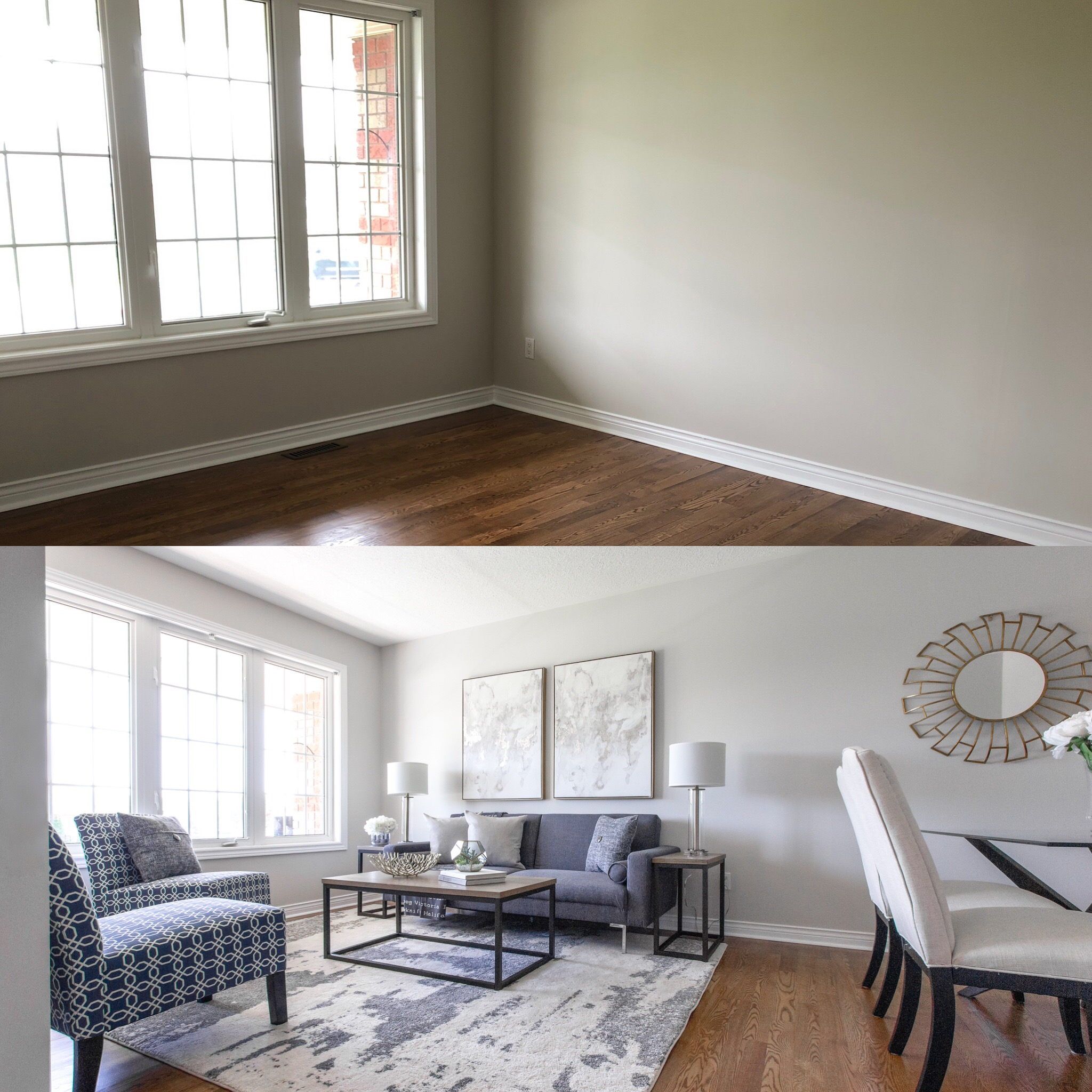 Before & After of Living room