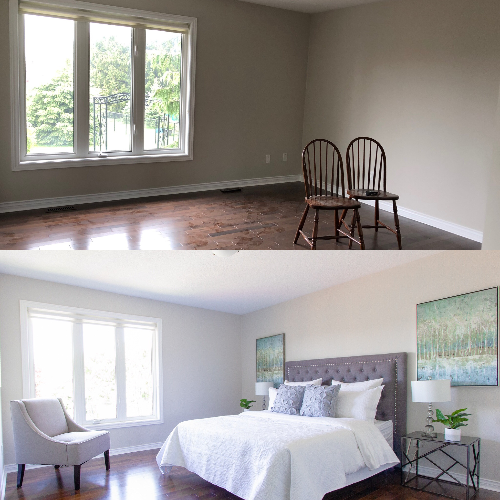 Before & After Master Bedroom