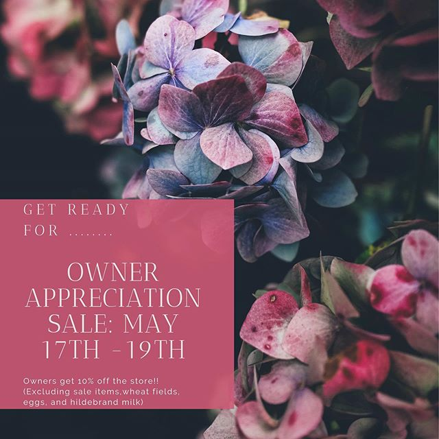 One more week till we get to spoil our owners!! 🌸 Owners will receive 10% off the ENTIRE store!!! 🌸 (Excluding sale items, wheat fields, eggs, and hildebrand milk) #peoplesgrocerycoop #health #mhk #veganfood #sale