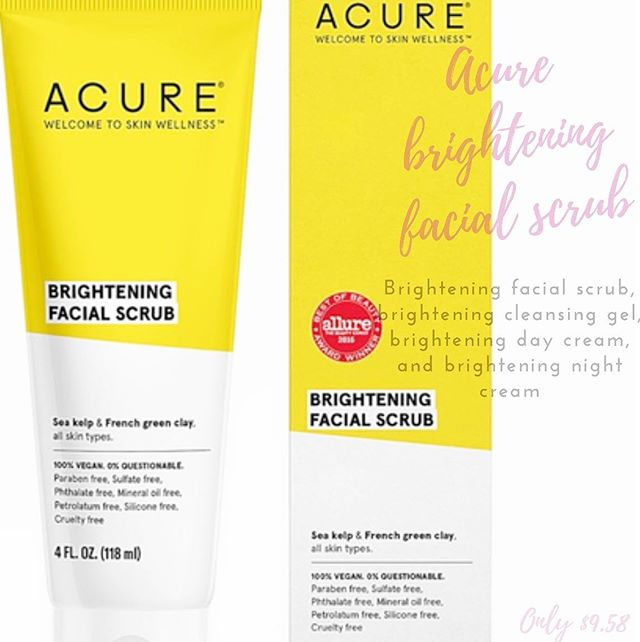 Our second ☀️MUST HAVE ☀️product is Acures' brilliant brightening facial scrub!! Sea kelp super-nutrients soften and detox while lemon peel and French green clay cleanse. Madonna lily brings the brightness to round out this refreshing facial scrub! If your GOAL is a brighter appearance this product is perfect for all skin types and will leave you absolutely glowing! TO USE: Apply to a wet face and scrub gently with your fingertips. Rinse thoroughly. Use 3x/week for glowing results! We carry lots of Acure products at peoples such as: brightening facial scrub, gel, night cream, day cream, amongst many more! Acure is 100% vegan and is a cruelty free brand! Come get your brilliant brightening facial scrub today at Peoples for only $9.58 ☀️☀️☀️
