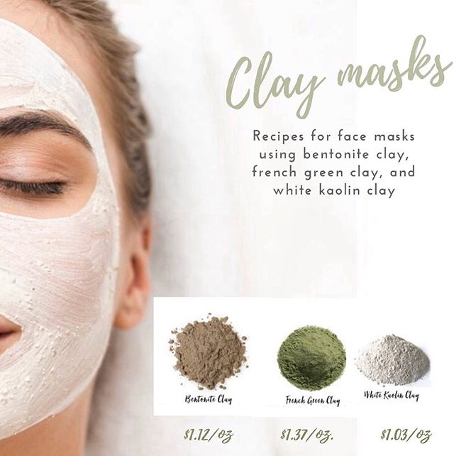 """we saved the best for last!! For our last skin product must have we have 🌿 3 new products 🌿 for you! 🌋 🌋 🌋 Up first, BENTONITE CLAY! - This clay has a unique composition and can absorb """"negatively charged"""" toxins. People have been using calcium bentonite clay for centuries as a way to detoxify the body, improve digestion, improve skin tone, and more! It's also anti-inflammatory, making it especially soothing on the skin. This is a great herbal remedy for any type of rash or eczema! Come get some at peoples today for only $1.12/ oz! 🍃 🍃 🍃 next up, FRENCH GREEN CLAY! This should be a staple in everyone's skin care routine because it is beneficial in removing impurities and tightening the pores, toning the skin, exfoliating dead skin cells and reducing inflammation in acne. It can also be used as a full-body treatment to soften dry, rough skin This particular mask is especially great for those suffering from breakouts and excessively oily skin, French green clay works to provide skin with vital minerals while helping draw impurities and oil from the skin!  Peoples sells French green clay for only $1.37/ oz! 💎 💎 💎  Lastly, we have WHITE KAOLIN CLAY! This is one of the gentlest clays. It's suitable for all skin types, but it's best for sensitive skin. kaolin clay cleanses the pores and boosts blood circulation at the same time. It promotes skin cell regeneration, bringing a healthy and glowing look to dull and tired skin. Along with this it is a great herbal remedy for big bites, cuts, and injuries due to its mild healing properties! You can also use this clay to make your own toothpaste, due to its whitening abilities! Come grab some at peoples today for only $1.03/oz!"""