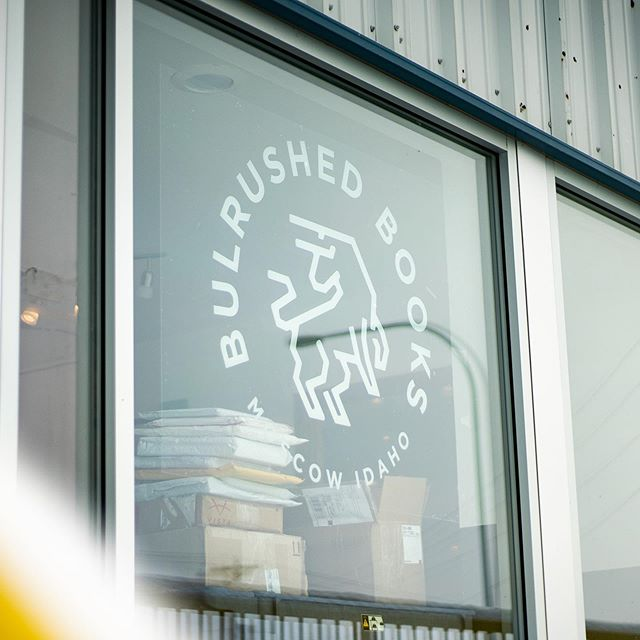 Seeing branding in the wild is my favorite. Logo for Bulrushed Books in Moscow last year. Photos by @alecengerbretson
