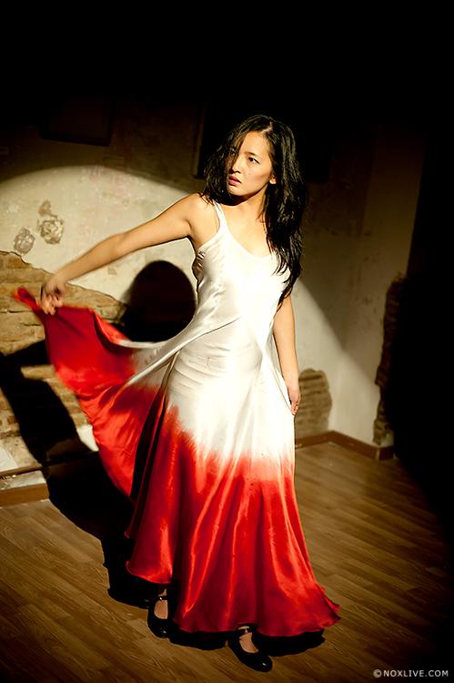 Vestido de Seda Natural teñido