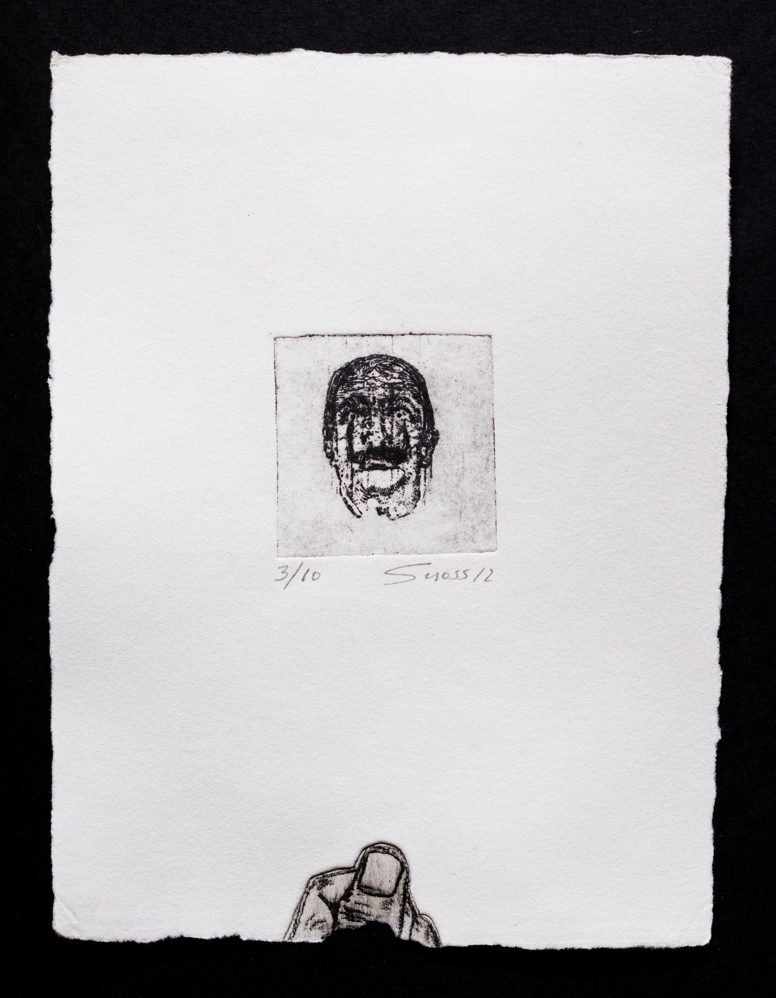 Retrato y mano