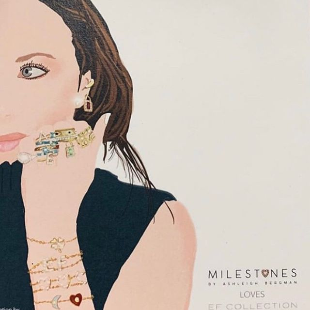 Love all of the creative women represented in this @sketchnyc sketch for @milestones_by_ab wearing @efcollection.