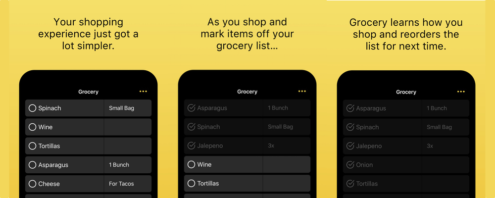 Grocery for iPhone