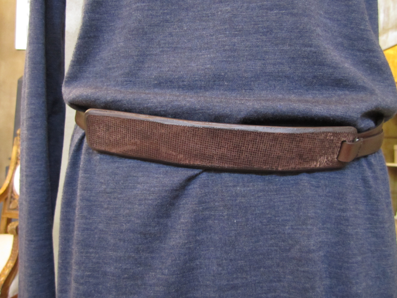 Brunello Cucinelli Leather Belt detail.