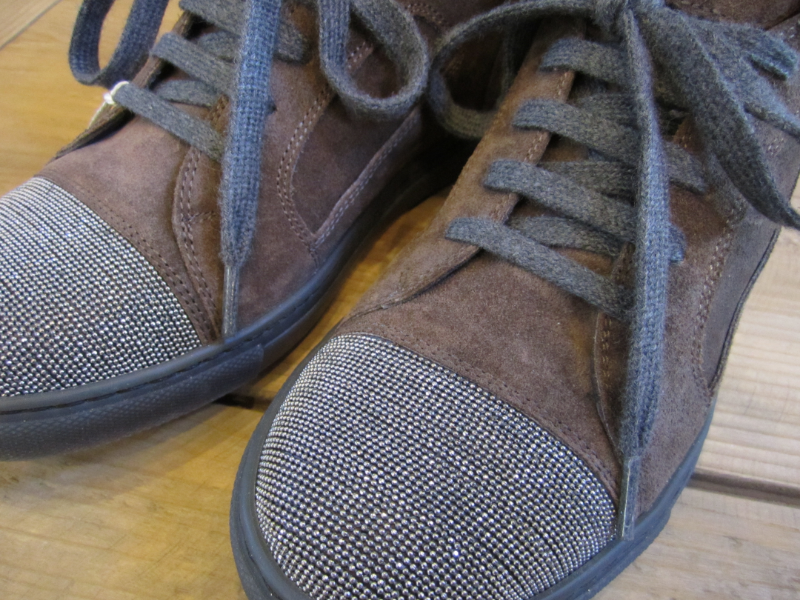 Brunello Cucinelli Monili Toe Sneaker detail.