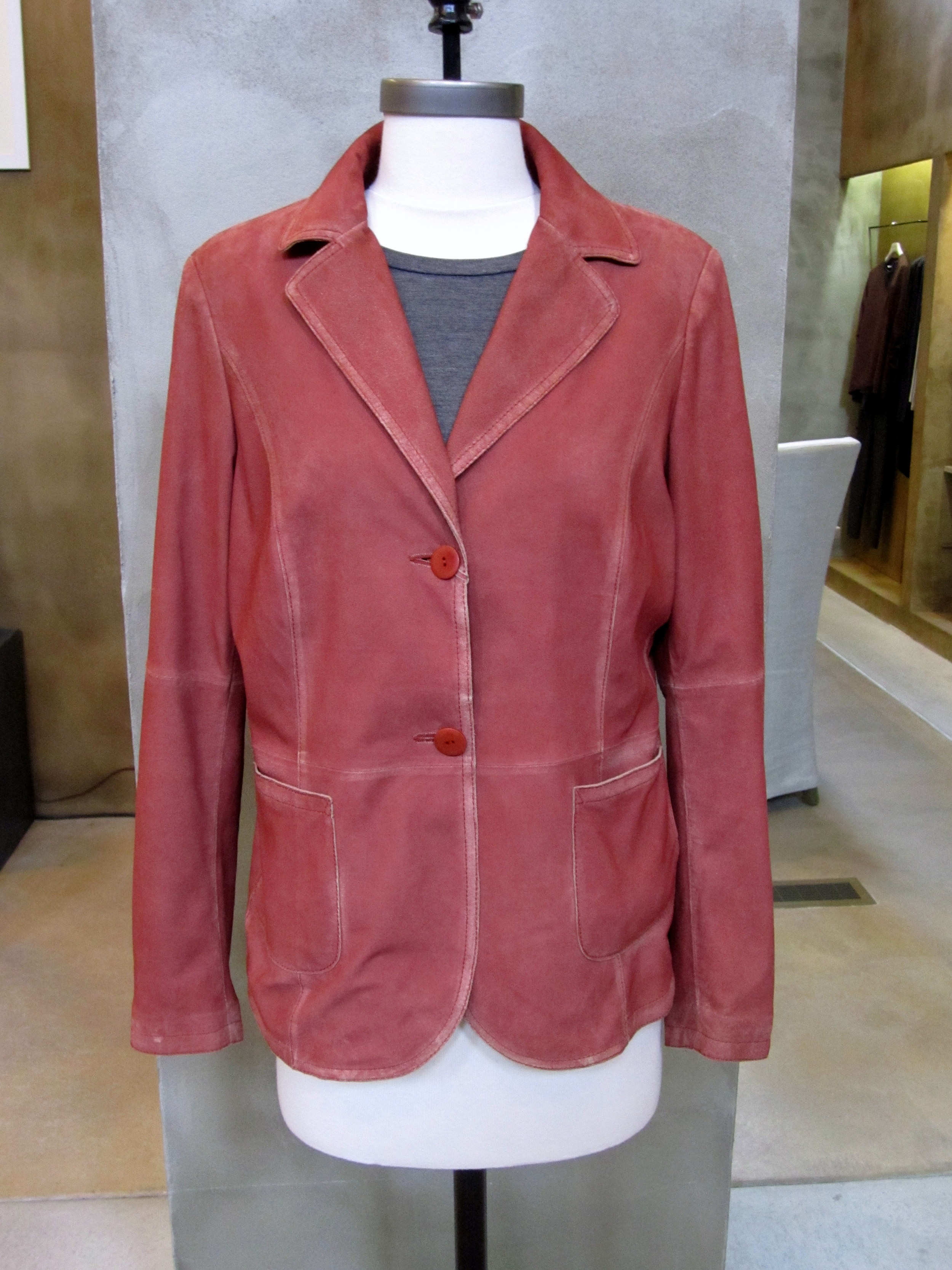 Gimo's Spring 2014 Garment Dyed Suede Jacket. $1185. Made in Italy. Available in Large and X-Large (runs small).