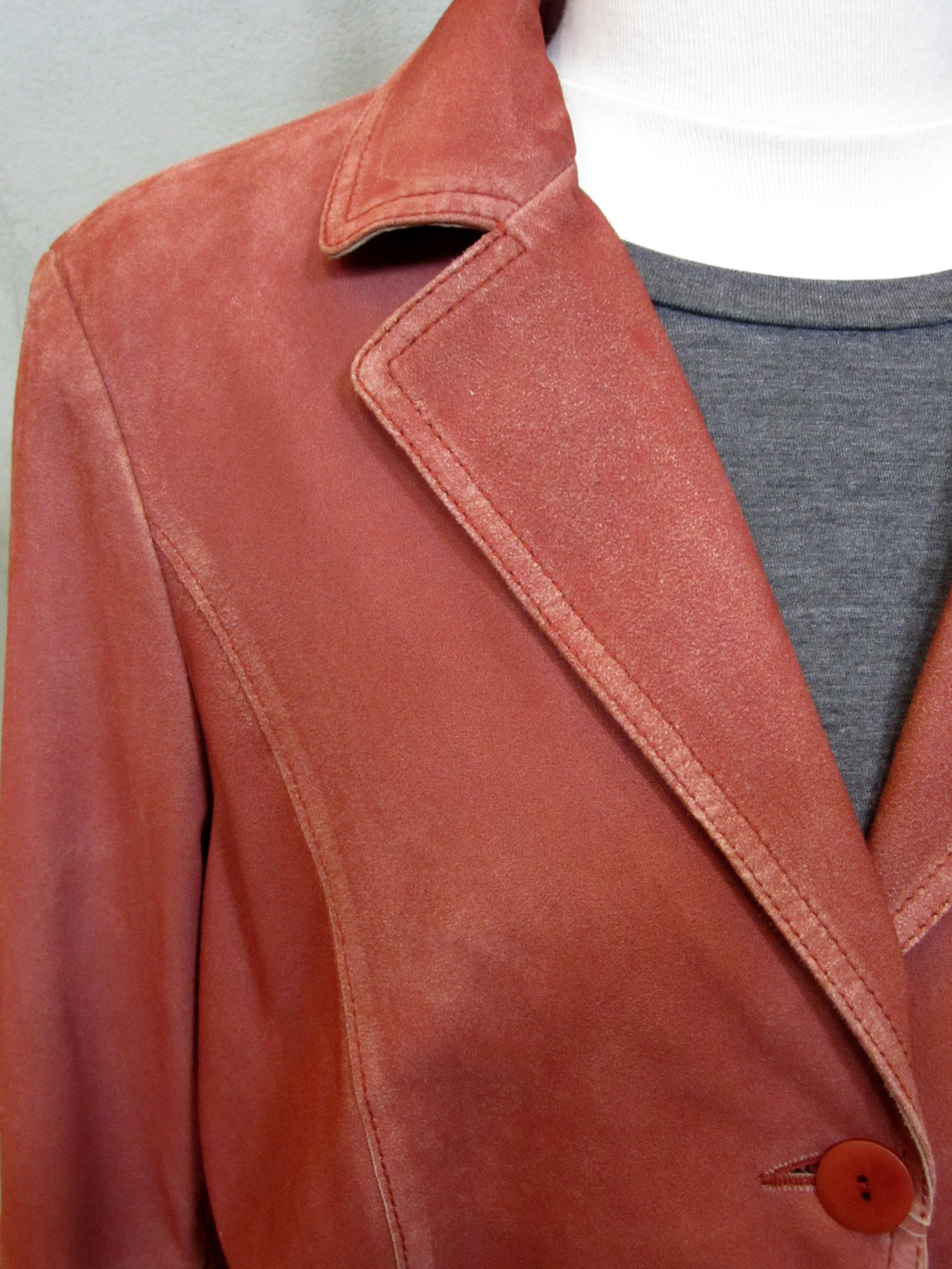 Gimo's Spring 2014 Suede Jacket closeup.
