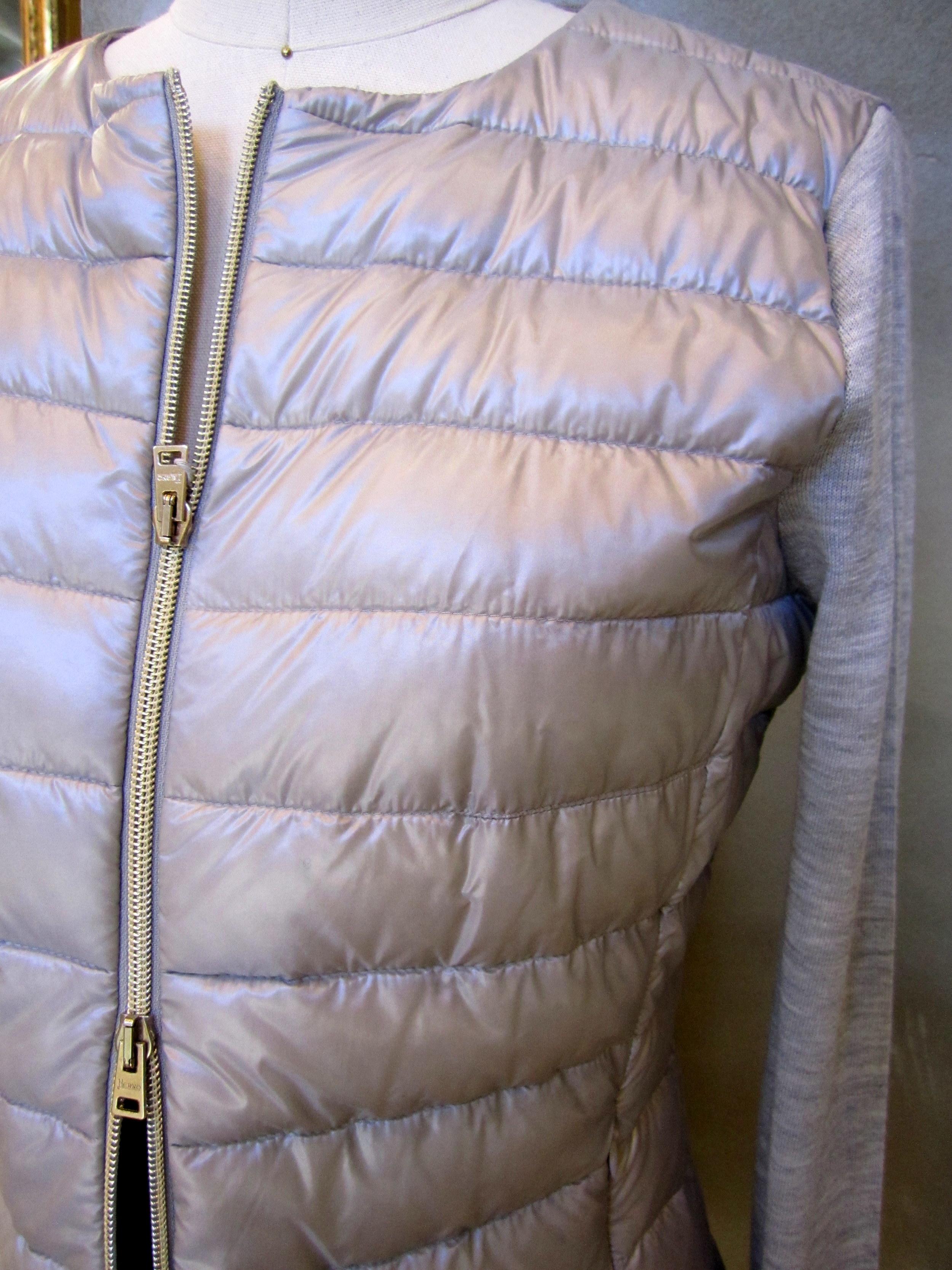 Herno Padded Down Zip Vest 2-way zipper.