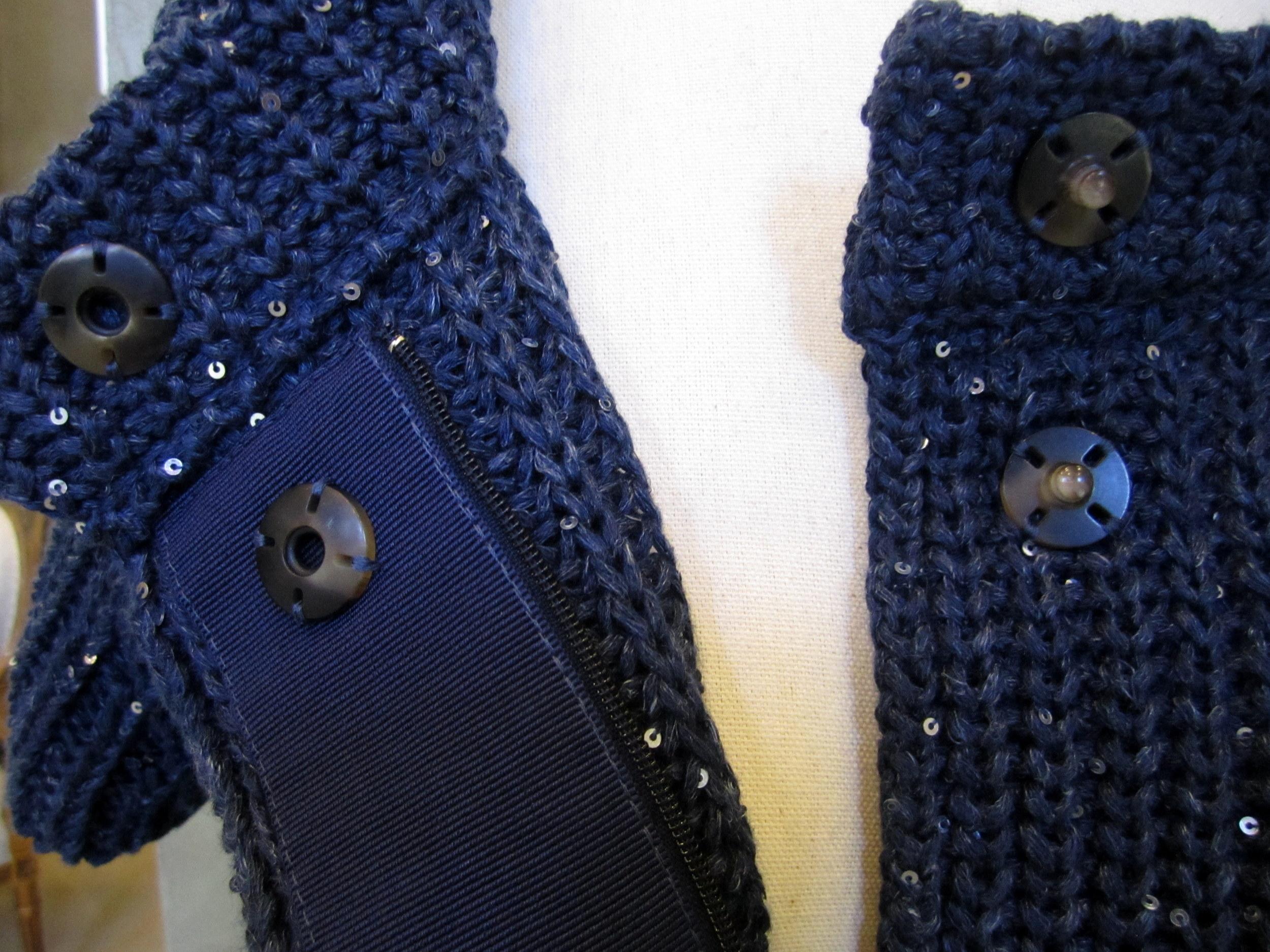 Herno Cotton / Linen Sweater Detail.