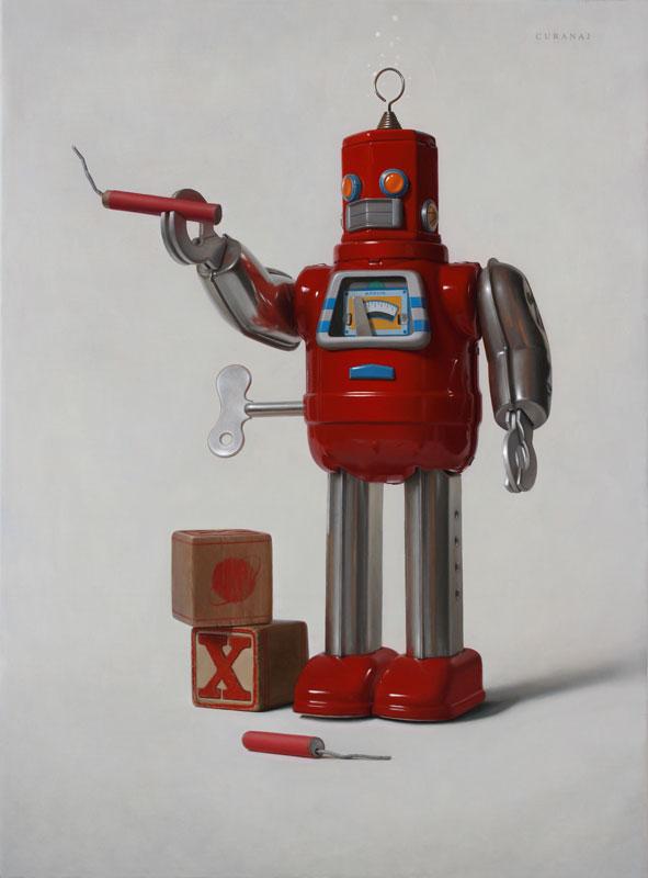 "Tony Curanaj, ""Illudium PU-36 Explosive Space Modulator"", oil on canvas"