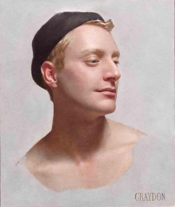 """Graydon Parrish, """"Sean"""", oil on canvas"""